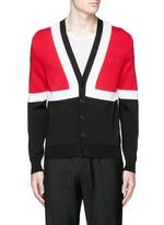 Colourblock intarsia cotton sweater