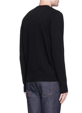 Alexander McQueen-Skull crochet front wool sweater