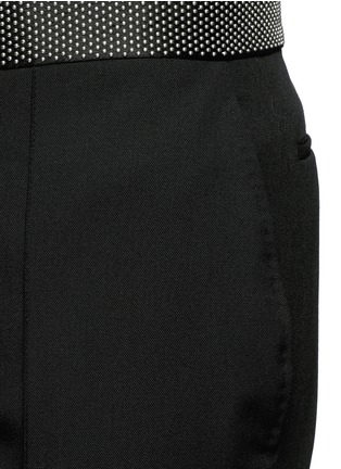 Detail View - Click To Enlarge - Alexander McQueen - Stud waistband wool-Mohair pants