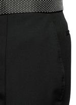 Stud waistband wool-Mohair pants