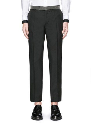 Main View - Click To Enlarge - Alexander McQueen - Stud waistband wool-Mohair pants