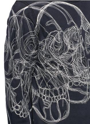细节 - 点击放大 - ALEXANDER MCQUEEN - 骷髅头刺绣纯棉卫衣