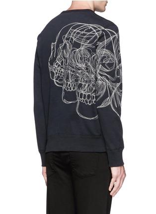 背面 - 点击放大 - ALEXANDER MCQUEEN - 骷髅头刺绣纯棉卫衣