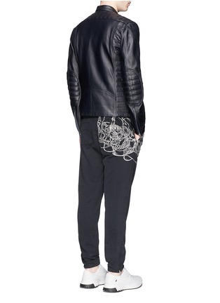 Figure View - Click To Enlarge - Alexander McQueen - Skull sketch embroidery jogging pants