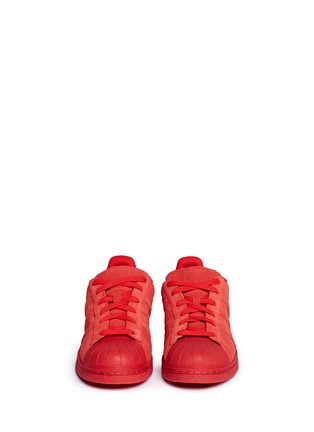 Front View - Click To Enlarge - Adidas - 'Superstar' suede sneakers