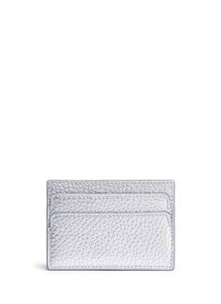 Figure View - Click To Enlarge - Alexander McQueen - Skull metallic leather card holder
