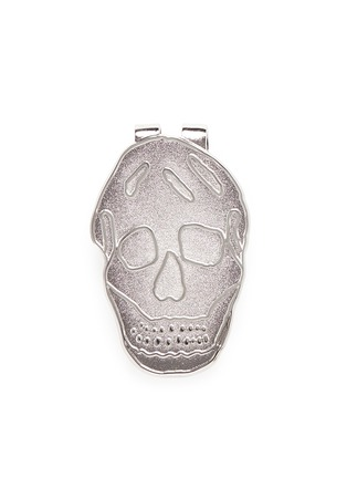 Main View - Click To Enlarge - Alexander McQueen - Engraved skull enamel money clip