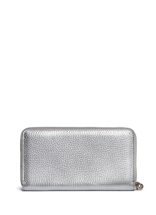 Figure View - Click To Enlarge - Alexander McQueen - Skull charm leather continental wallet