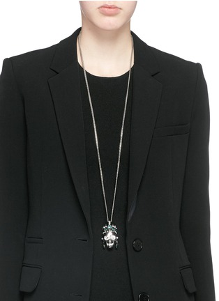 Figure View - Click To Enlarge - Alexander McQueen - Royal skull pendant necklace