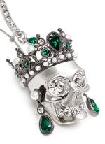 Swarovski crystal Royal skull earrings