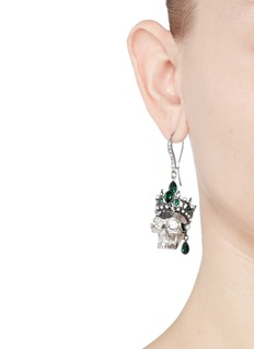 ALEXANDER MCQUEENSwarovski crystal Royal skull earrings
