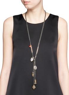 ALEXANDER MCQUEENVintage effect charm necklace