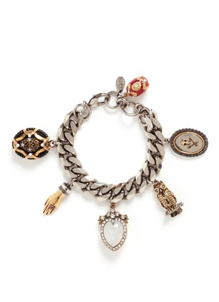 Main View - Click To Enlarge - Alexander McQueen - Vintage effect charms bracelet