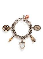 Vintage effect charms bracelet