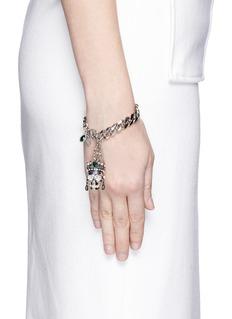 ALEXANDER MCQUEENSwarovski crystal Royal skull bracelet