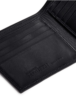 Detail View - Click To Enlarge - Alexander McQueen - Skull print coated canvas bifold wallet