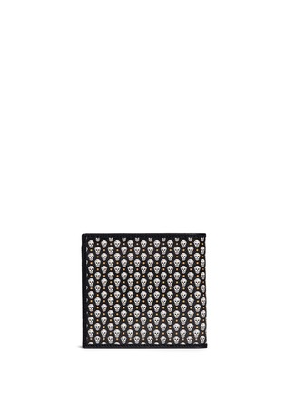 Back View - Click To Enlarge - Alexander McQueen - Skull print coated canvas bifold wallet