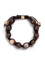 'Shamballa' diamond 18k rose gold bracelet