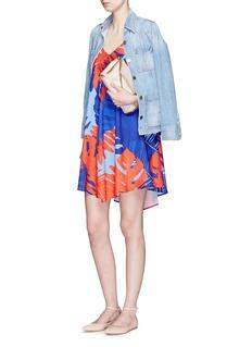 NICHOLASPalm print camisole dress