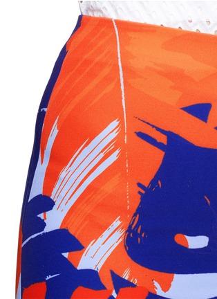 Detail View - Click To Enlarge - Nicholas - Palm print front split pencil skirt