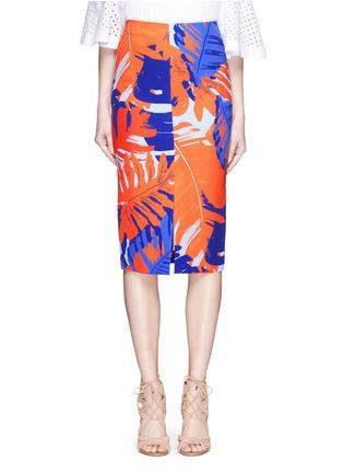 Main View - Click To Enlarge - Nicholas - Palm print front split pencil skirt