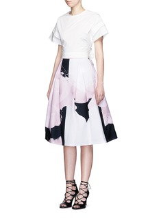NICHOLASPaint floral print ball skirt