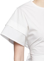 Sash waist cotton poplin cropped top