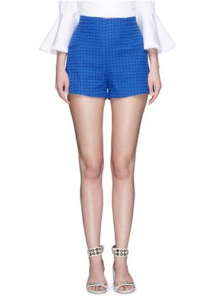 Main View - Click To Enlarge - Nicholas - Tailored broderie anglaise shorts