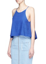 Broderie anglaire flare camisole top