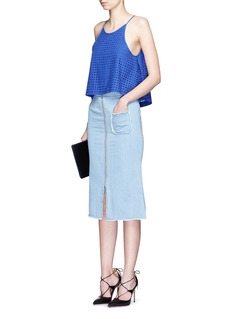 NICHOLASBroderie anglaire flare camisole top