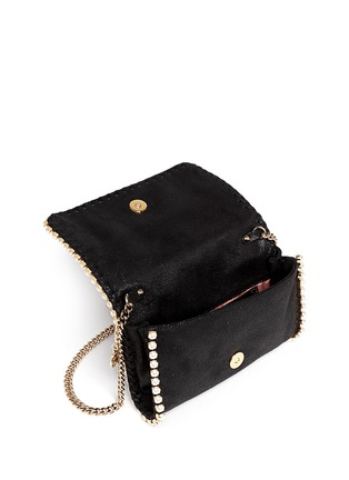 Detail View - Click To Enlarge - Stella McCartney - 'Falabella' faux pearl trim crossbody chain bag