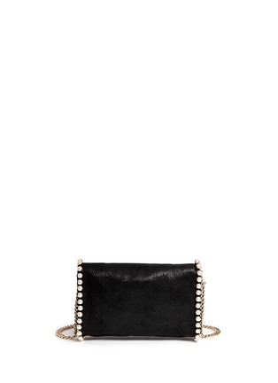 Back View - Click To Enlarge - Stella McCartney - 'Falabella' faux pearl trim crossbody chain bag