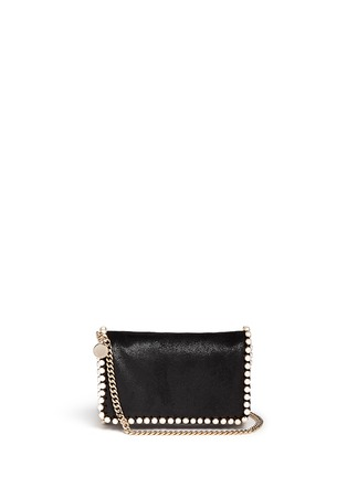 Main View - Click To Enlarge - Stella McCartney - 'Falabella' faux pearl trim crossbody chain bag