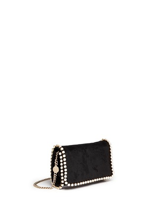 Figure View - Click To Enlarge - Stella McCartney - 'Falabella' faux pearl trim crossbody chain bag