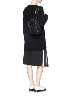 STELLA MCCARTNEY'Falabella' mini quilted faux leather chain backpack