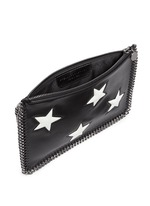 Contrast star appliqué chain zip purse