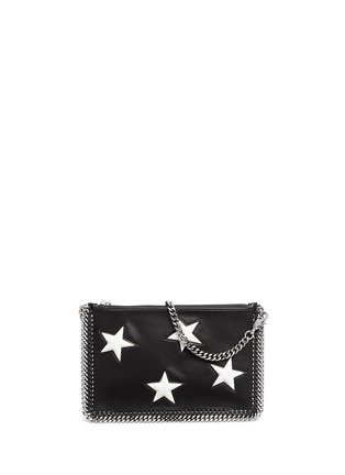 Stella McCartney - Contrast star appliqué chain zip purse