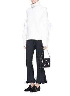 STELLA MCCARTNEYContrast star appliqué chain zip purse
