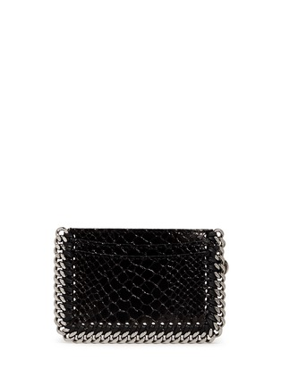 Figure View - Click To Enlarge - Stella McCartney - 'Falabella' chain border snake effect card holder