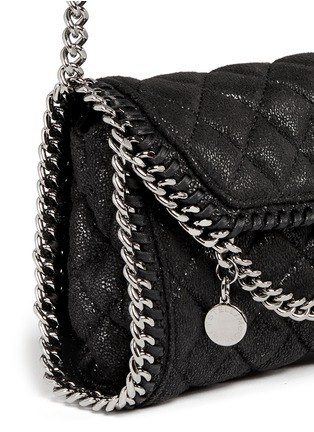 Detail View - Click To Enlarge - Stella McCartney - 'Falabella' tiny quilted crossbody chain bag