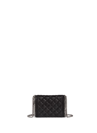 Back View - Click To Enlarge - Stella McCartney - 'Falabella' tiny quilted crossbody chain bag