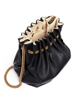 'Noma' curb chain eco leather bucket bag