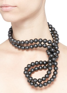 STELLA MCCARTNEY Swarovski pearl wire necklace