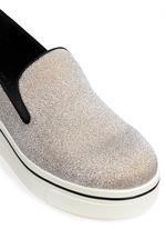 'Binx' glitter platform slip-ons
