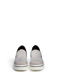 STELLA MCCARTNEY'Binx' glitter platform slip-ons