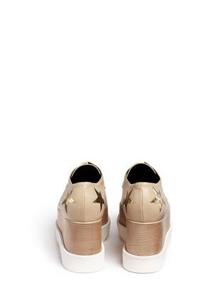 背面 - 点击放大 - STELLA MCCARTNEY - 星星拼贴坡跟系带鞋
