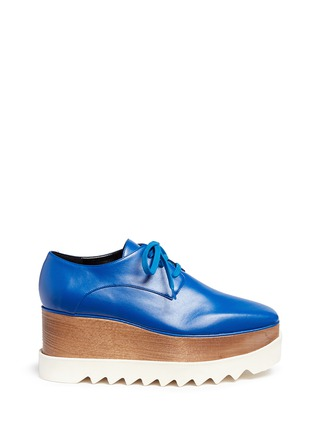 Main View - Click To Enlarge - Stella McCartney - 'Elyse' wood platform faux leather Derbies