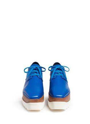 Figure View - Click To Enlarge - Stella McCartney - 'Elyse' wood platform faux leather Derbies