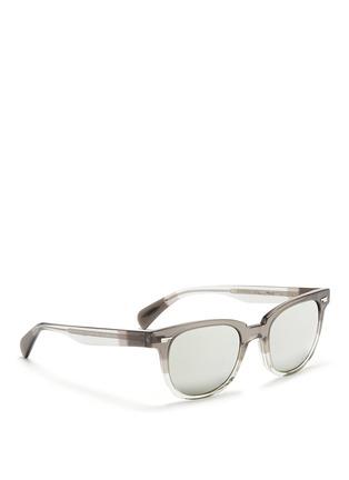 模特儿示范图 - 点击放大 - OLIVER PEOPLES - 'Masek' mirror lens sunglasses