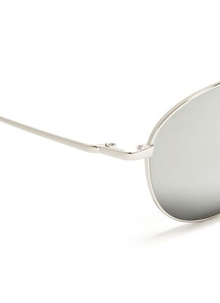 细节 - 点击放大 - OLIVER PEOPLES - 'Benedict' double bridge aviator sunglasses